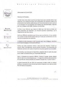 lettre sénat GPIA