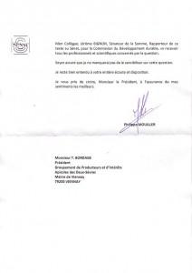 lettre sénat GPIA suite