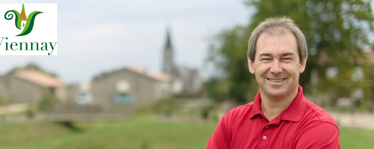 Christophe MORIN, maire de Viennay, soutien indéfectible de l'association ABEILLE DU POITOU